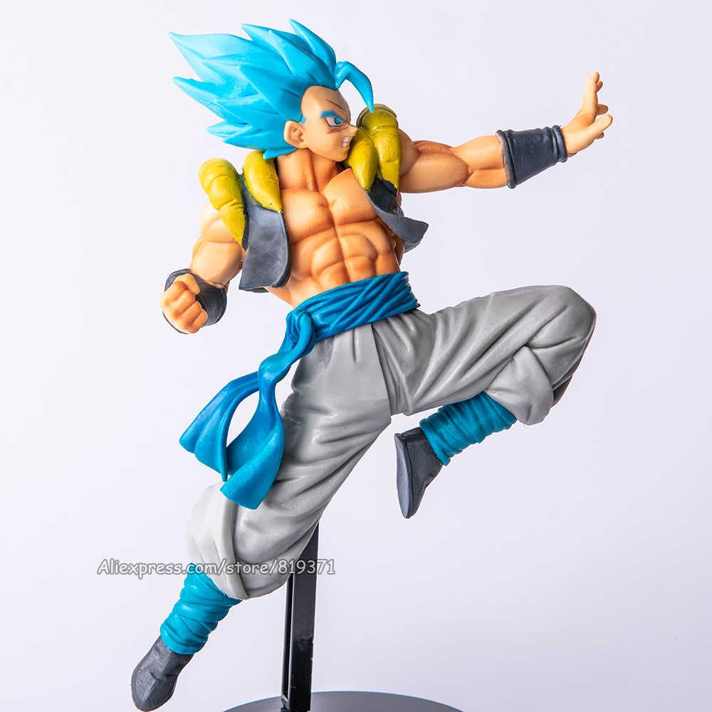 Esfera Super 2019 Gogeta pelo azul de PVC figuras de acción de juguete Dragon Ball Z Saiyan Goku Vegeta modelo combinado Brinquedos