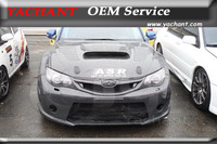 Car Styling Carbon Fiber Front Grille Fit For 2008 2010 Impreza GRB WRX STI OEM Style Front Grille with Logo