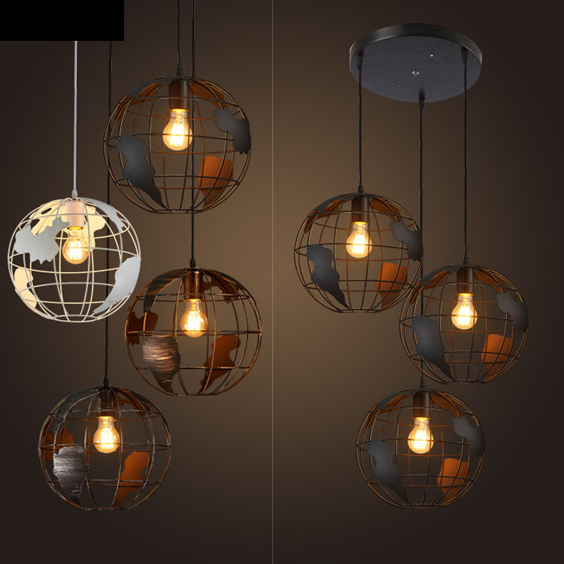 Nordic retro industrial iron chandeliers creative personality clothing shop coffee restaurant three single head bar led fixture fan lights retro personality loft industrial chandeliers restaurant cafe fan chandeliers lighting fixture led lamps for bedroom