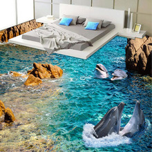 Custom Dolphin Seaview 3D Floor Sticker