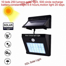 10 leds Solar Light PIR Motion Sensor Solar Garden Lamp Waterproof Outdoor Energy Saving Street Yard Path Wall Lights patio deck