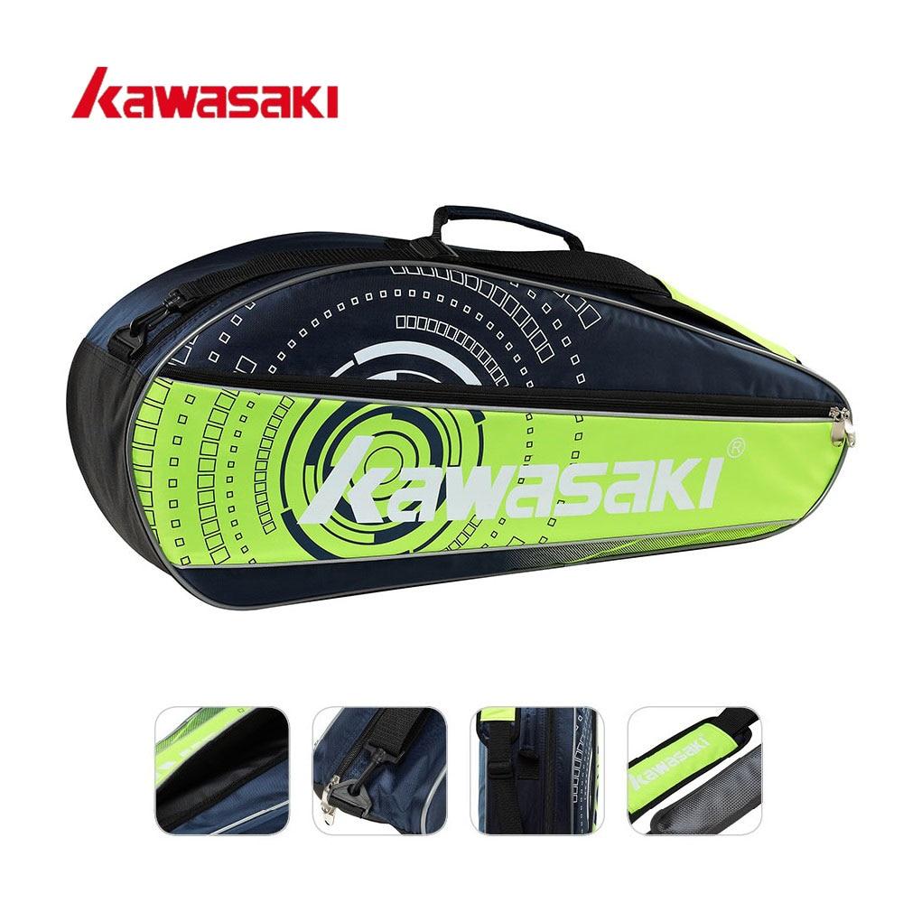 Original Kawasaki Brand Single Shoulder Tennis Badminton Racket Bag Men Women Sport Bags for 3 Rackets Badminton Bags KBB-8312