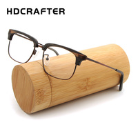 HDCRAFTER 클리어 렌즈 나무 안경