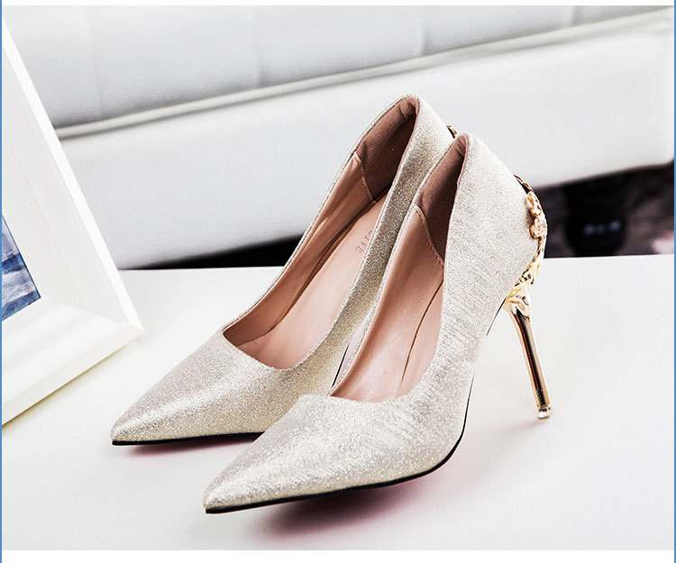 2019 new arrival Pointed Toe Office Solid Flock High Heels top quality rose gorden color