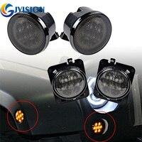 4 PCS Yellow Amber 8 LEDs Light Front Fender Flares Side Marker Turn Signal Light LED