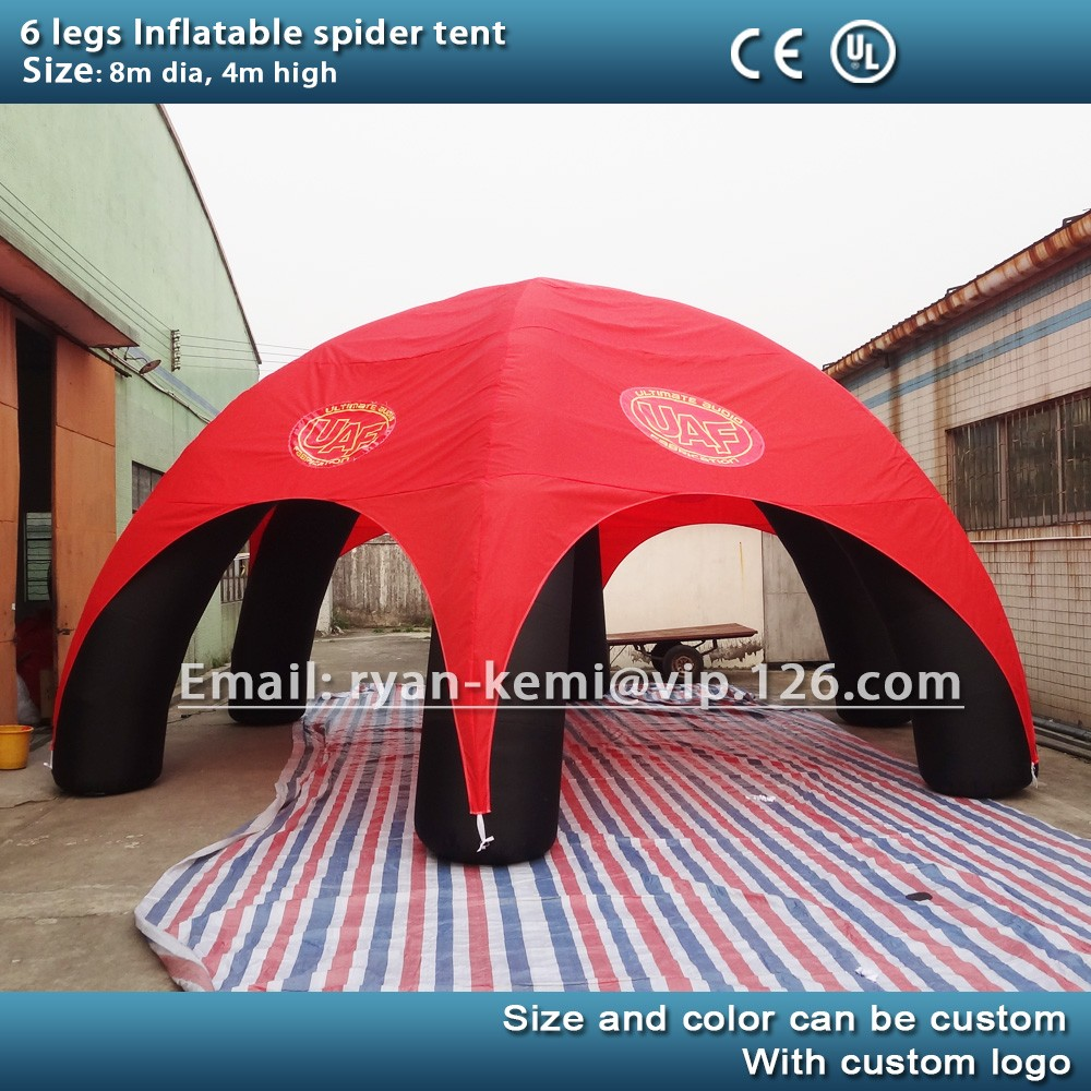 6 legs 8m inflatable party tent