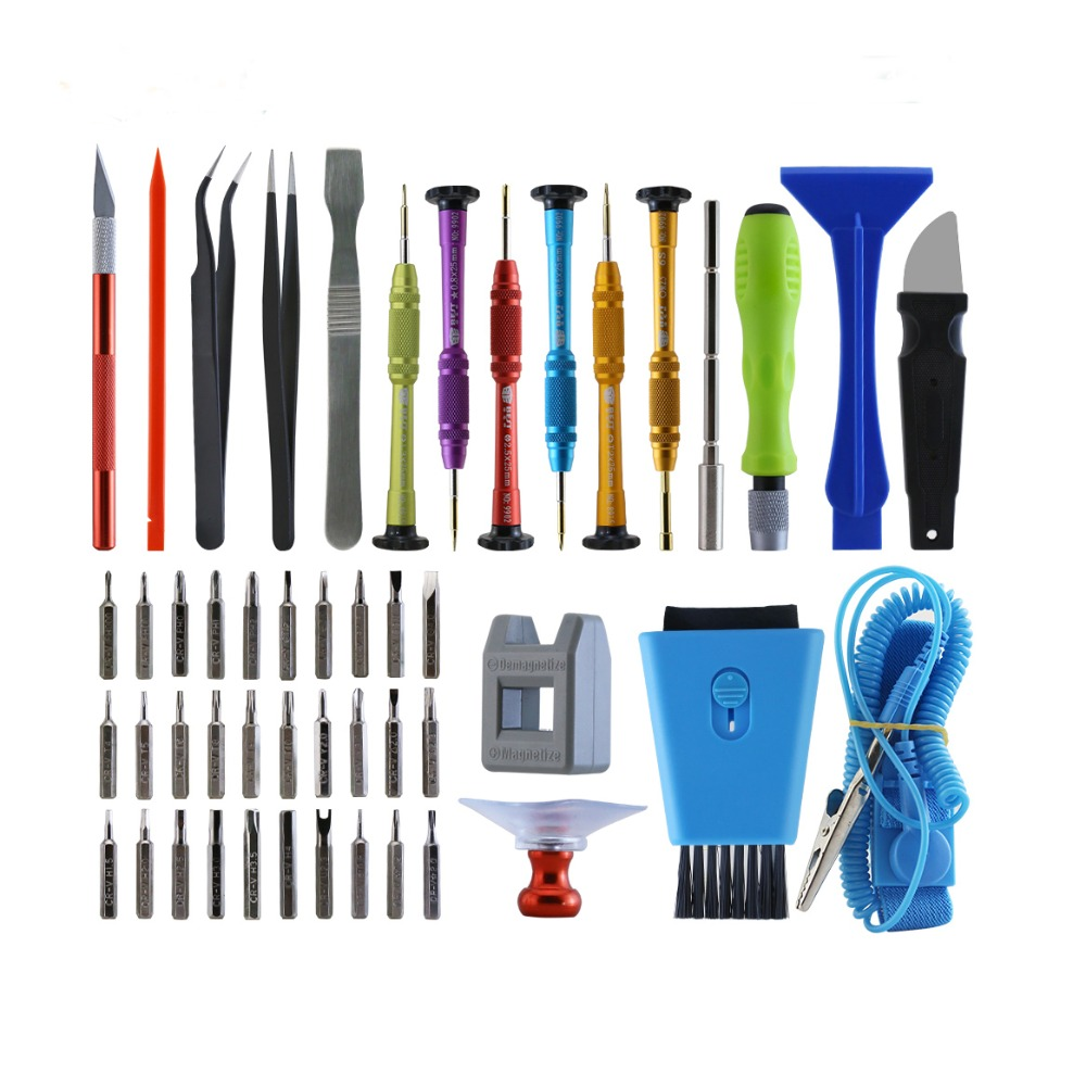 цена на 47 in 1 Mobile Phone Repair Tools Kit Spudger Pry Opening Tool Screwdriver Set for iPhone iPad Samsung Cell Phone Hand Tools Set