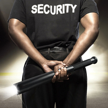 Baseball Bat LED Flashlight Outdoors Emergency Self Defense Stick Functional Anti Riot Safety Equipment