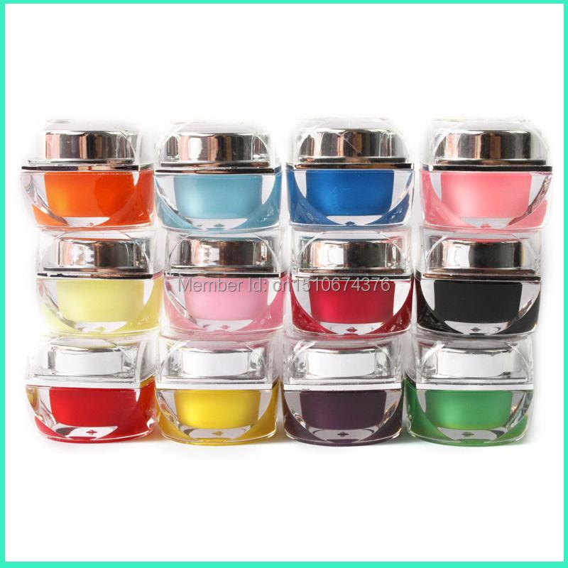 Nemokamas pristatymas 3D 12 spalvų kietas glazūros gelio nagų lako - Nagų menas - Nuotrauka 2