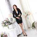Good quality Classic style plus size S-3XL pure wool suit Autumn wear new long-sleeved overalls red/black suit