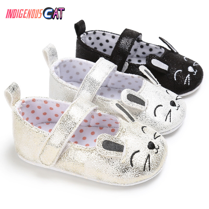 Baby Shoes Cute Baby Princess Toddler Shoes Infant Girls Anti-slip Soft Sole Crib Shoes First Walkers 0-2 Year Toddler Shoes