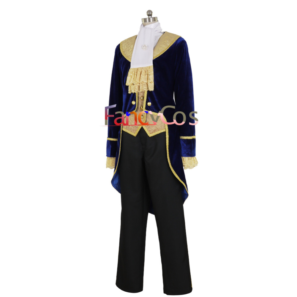The Beauty and the Beast Prince Tuxedo Halloween Men/'s Cosplay Costume Good Made