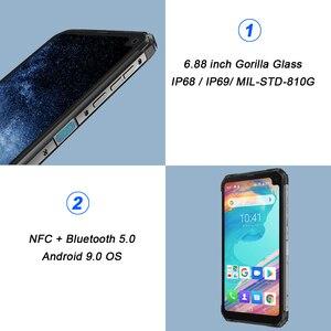 """Image 2 - Blackview BV6100 6.88 """"ゴリラスクリーン堅牢スマートフォン 3 ギガバイト + 16 ギガバイトの Android 9.0 IP68 防水携帯電話 5580 mAh NFC 携帯電話"""