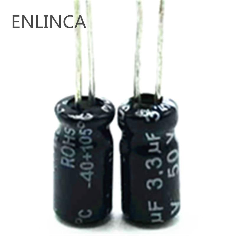 3.3uf 50V Electrolytic Capacitor 200pcs//lot Size: 4mm7mm Electrolytic Capacitors|50V