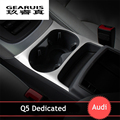 Car styling water cup holder frame cover trim strips stainless steel Armrest box decorative sequin 3D stickers for Audi Q5