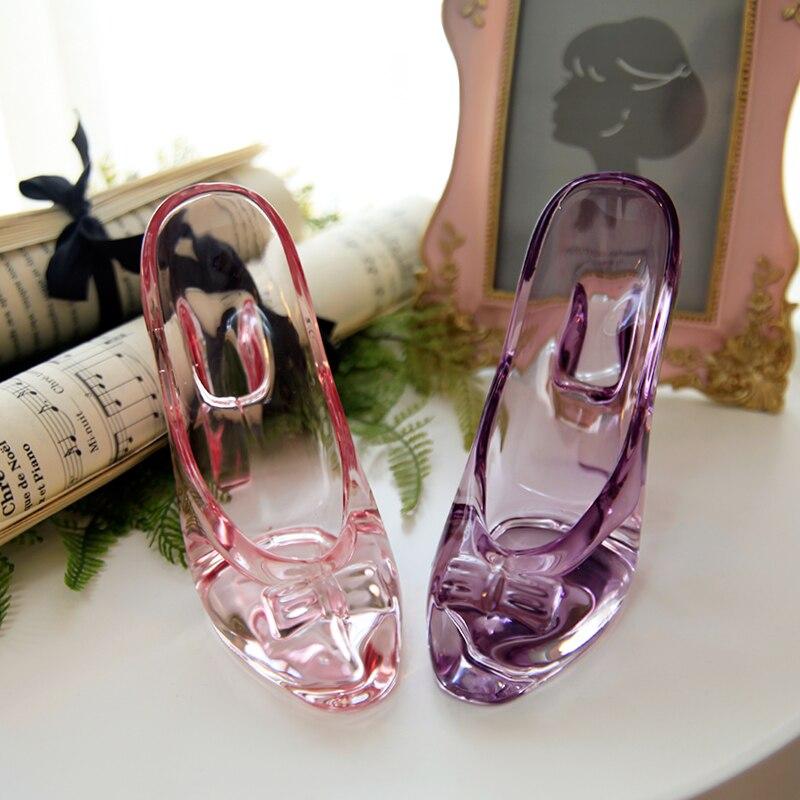Zapatos de princesa de cumpleaños, decoraciones de cristal transparente, tacones, zapatilla de cristal de Cenicienta, artículos de decoración para zapatos de boda 80 mini cabezas 1PC DIY Flor de Gypsophila planta de silicona falsa para la boda adornos de fiesta doméstica 8 colores