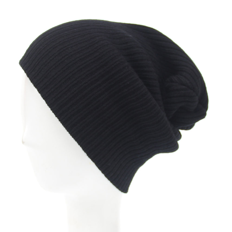 Autumn Winter   Skullies     Beanie   Kintted Cap Women Men Solid Color Outdoor Warm Wool Hat Fashion Unisex Striped Knit Hats CP0270