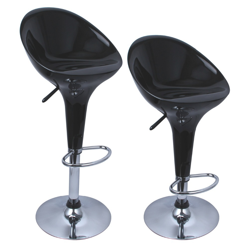 Set of 2 Bombo Style Bar Stools Modern Swivel Dinning Counter Chair Pair in Bar Stools from Furniture on Aliexpress