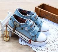 2016 New Hot Sales Canvas Jeans Baby Shoes Fashion Cool Girls Boys Shoes High Quality Kids