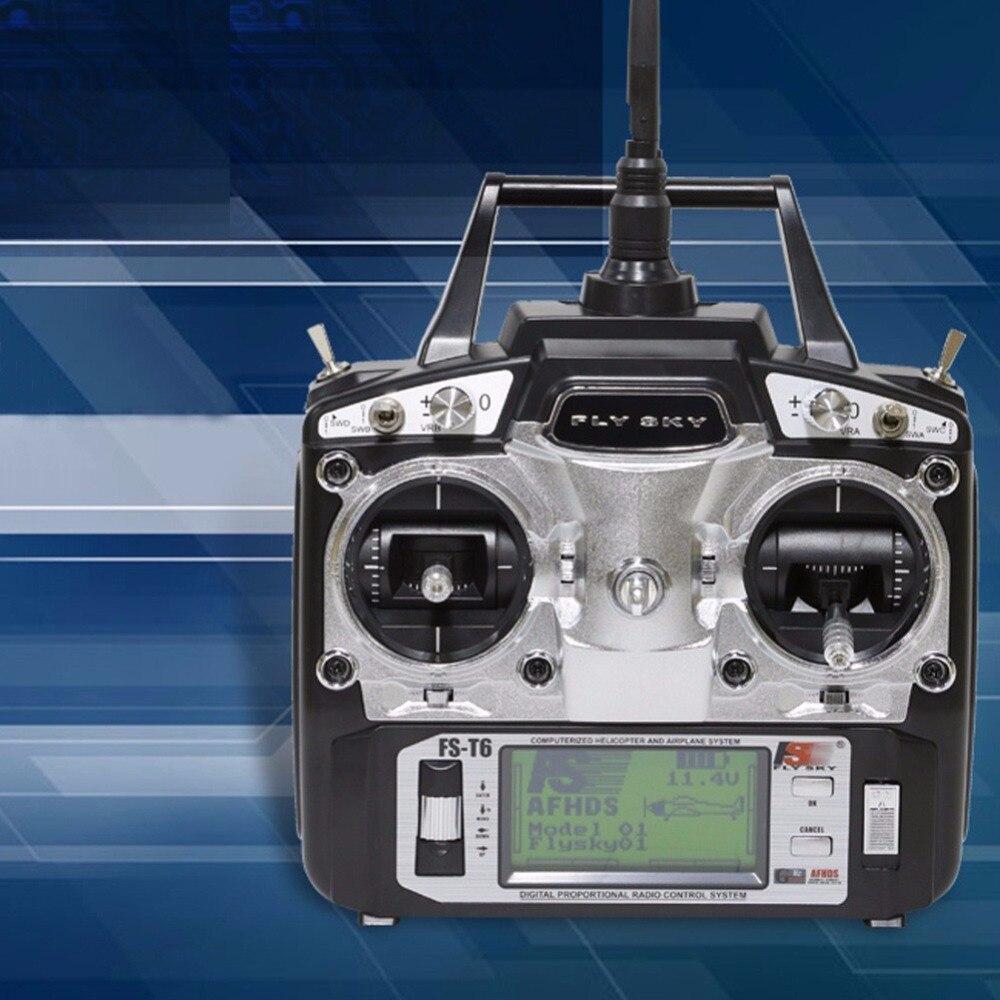 Flysky FS-T6 6CH 2.4GHz Transmitter Receiver For RC Helicopter Multicopter Plane DIY flysky fs th9xb transmitter fs r9b receiver combo