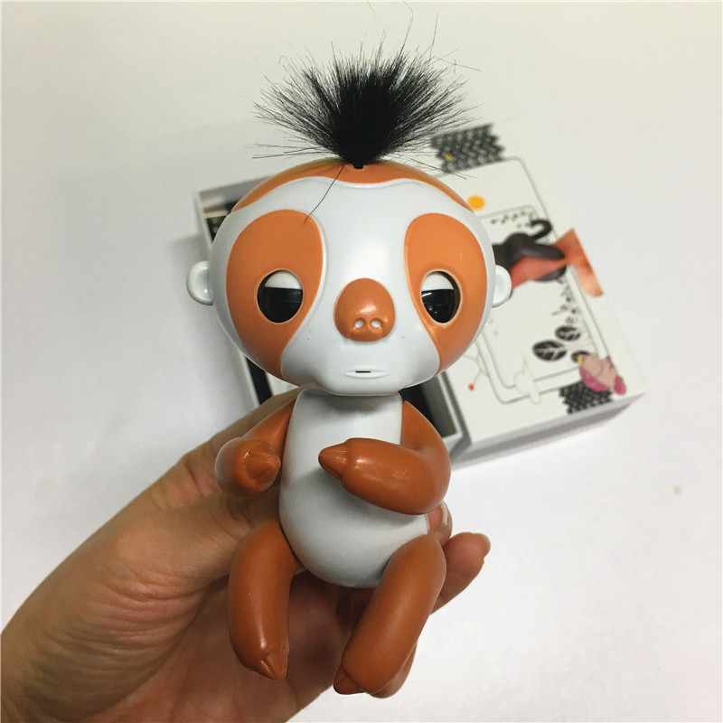 Finger sloth with recording function with charger with box Cute Smart Colorful Finger monkey Electronic Pets Christmas Gift Kid