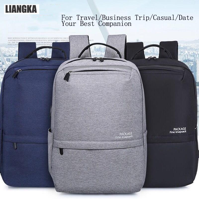 LIANGKA USB chargeur de téléphone sacs à dos pour Xiaomi ordinateur portable hommes femmes décontracté voyage Camping sac à dos cartable Mochila - 2