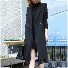 2020 New Korean Spring Summer Long Chiffon Windbreaker Suit Jacket Female Fashio