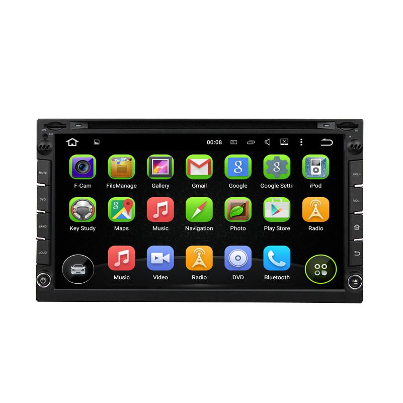 JSTMAX Quad core 2 din android 5.1 universal Car Radio  Car DVD Player GPS Navigation In dash Car PC Stereo free map + camera
