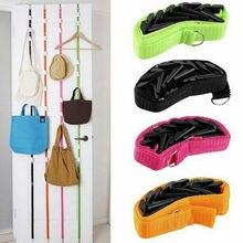 Популярные регулируемые Дверные ремни вешалка для шляп сумка вешалка для одежды, куртки 8 крючков Удобная Экономия пространства