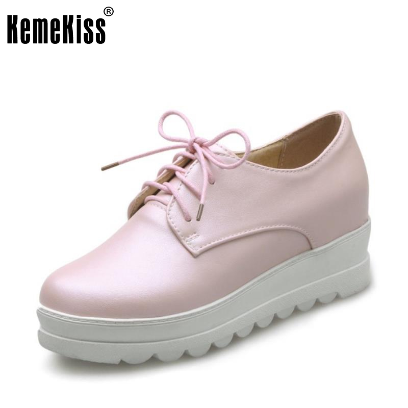 New Spring Women Casual Platform Shoes Lace Up Round Toe Black Pink White Casual Shoes Women Comfortble Ladies Shoes Size 33-43 mcckle 2017 fashion woman shoes flat women platform round toe lace up ladies office black casual comfortable spring