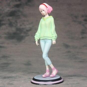 Anime Naruto Haruno Sakura Action Figure Light Green Fleece Ver. figure Toy Brinquedos 21.5CM