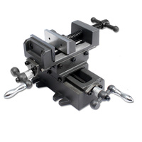 Sotrlo 3 Cross Slide Vise with Slider Bar Vertical and Horizontal Way Table Vises Manual Bench Vise for Mechanical Working
