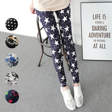 2018 Autumn Sweet Women Thin Clothing Leggings Print Mid Ankle-Length Polyester White Black Legging Pants Plus Size Streetwear