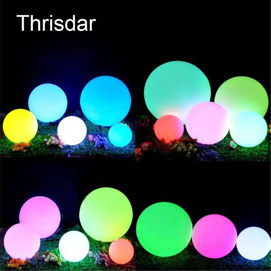 RGB Rechargeable Outdoor Garden Lawn Landscape Floor Ball Lamps Led illuminated Floating Swimming pool Ball Light With Remote