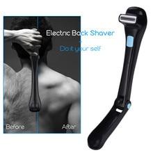 Мужской Электрический массажер для спины бритвенный Эпилятор Складная ручка для удаления волос в спине безопасный бритвенный станок работающий от батареи 20
