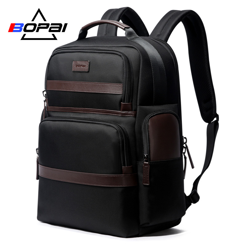 BOPAI Large Capacity Laptop Backpack Anti Theft USB Charging Fashion Men Shoulders Men Bag Travel Backpack for 15.6'' Laptop bopai laptop backpack with usb external charging port for 15 6 inch laptop men anti theft waterproof large capacity travel bag