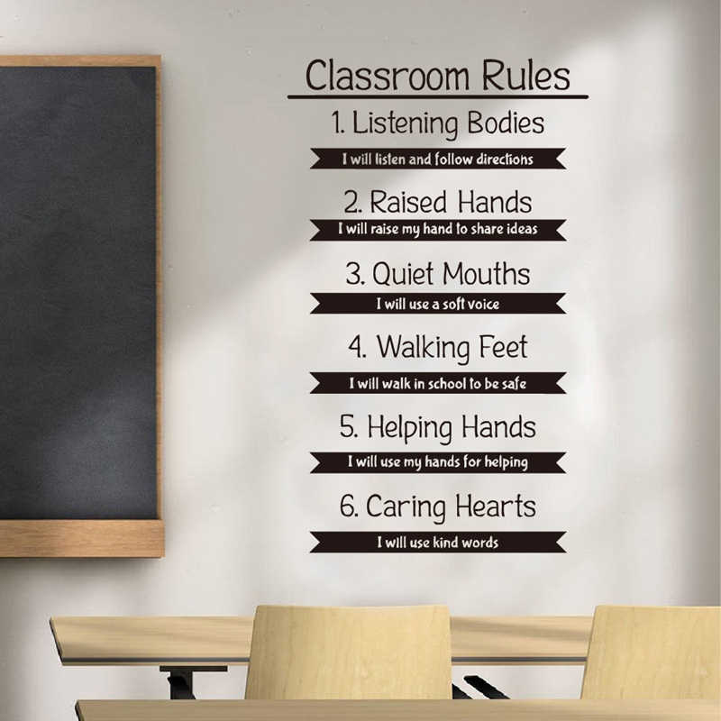 Detail Feedback Questions Classroom Rules Wall Decal