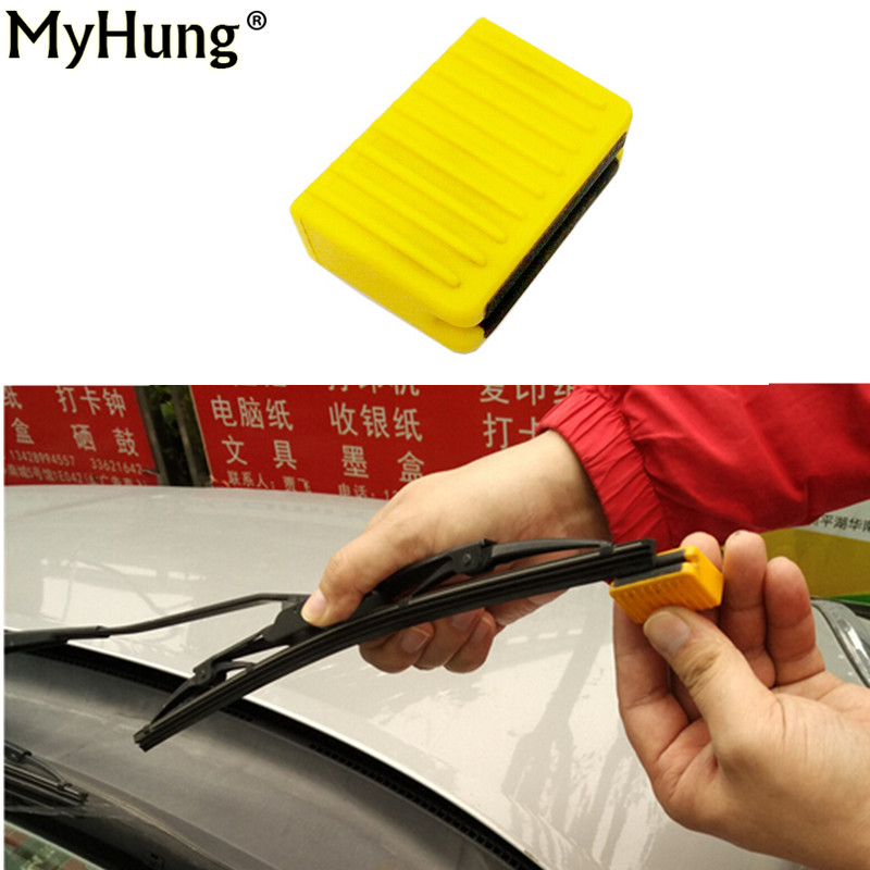Car Window Wipers Repair Tool Universal Wiper Repair car styling Wiper Cleaning Brush Wizard Blade Restorer Windscreen Cleaner