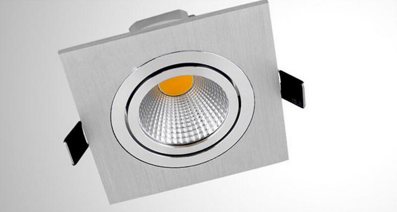 5W 7W 10W COB zatemnitvene LED luči navzdol kvadratne steklene luči - Notranja razsvetljava - Fotografija 2