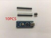 10PCS Promotion Funduino Nano 3.0 Atmega328 Controller Compatible Board for Arduino Module PCB Development Board without USB.