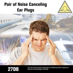 Image 4 - 1 زوج مكافحة الضوضاء الأذن حماة إلغاء الضوضاء الأذن المقابس مقاوم للماء لينة سدادات سيليكون للنوم السباحة الطيران
