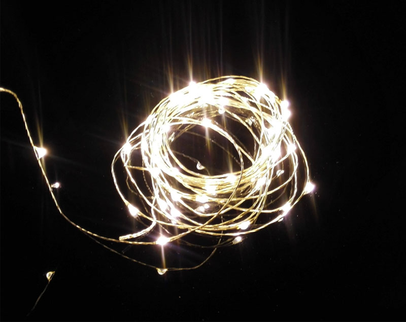 Micro Led String Lights Interesting 60M600 LED 60v Invisible Micro LED Copper Silver Wire Holiday String