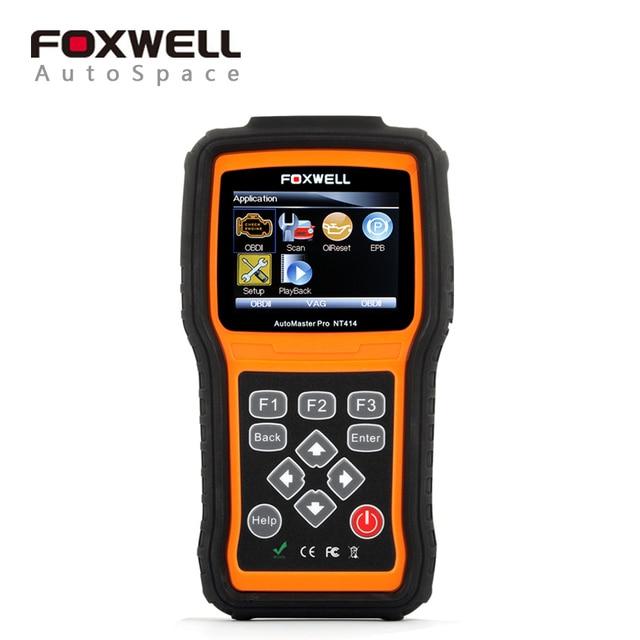 Foxwell NT414 Автомобильный Сканер ECU, ABS, подушка безопасности и Передачи Автомобильной Инструмент Заменить MD802 Автомобиль Диагностический Инструмент