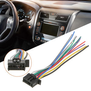 1 Pcs 16Pin Radio Wire Harness Audio Connector Line Replacement  For Pioneer 2350 Car Stereo 6.3 Inch Meet EIA Color Code