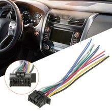 1 Pcs 16Pin 라디오 와이어 하네스 오디오 커넥터 라인 교체 파이오니어 2350 자동차 스테레오 6.3 인치 충족 EIA 컬러 코드