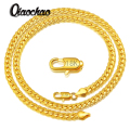 "18K Real Gold Plated Necklace With ""18K"" Stamp Men Jewelry Wholesale New Trendy 1 Colors 5 MM Wide Snake Chain Necklace X174"