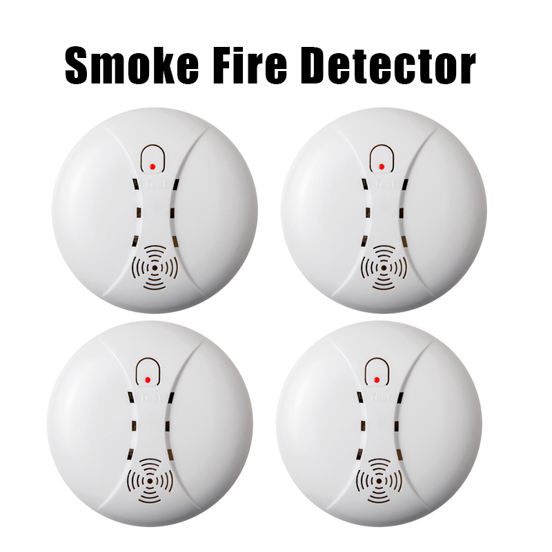 433MHz Portable Alarm Sensors Wireless Fire Smoke Detector for all of home security alarm system in our store smoke sensor Alarm wireless smoke fire detector smoke alarm for touch keypad panel wifi gsm home security system without battery