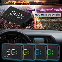 Digital Car Speedometer Car 3.5inch A1000 HUD Head Up Display Windshield Projector Auto Power on / off 5 3 5 screen hud a1000 obd2 digital speedometer universal car head up display windshield projector head up display car styling