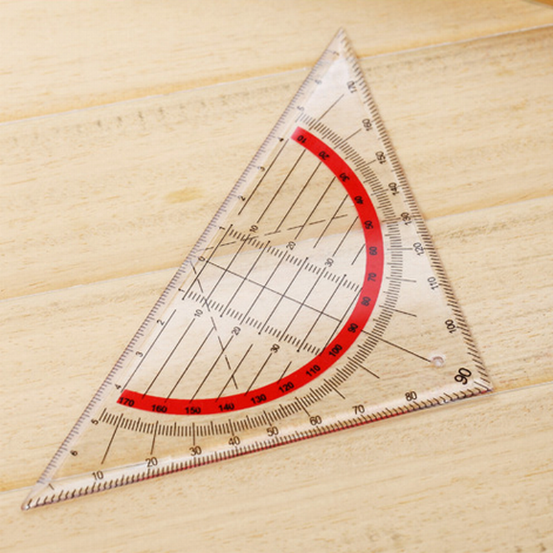 DHL 300PC Students Stationery Office Multi-function Set Square Triangle Multifunctional Ruler Protractor Triangle Coordinate