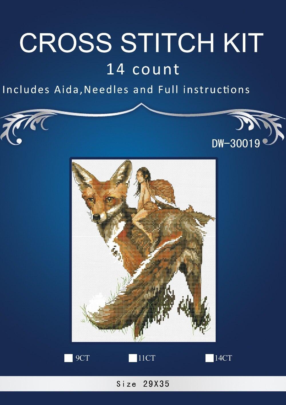 Бесплатная доставка Высокое Качество прекрасный счетный крест комплект лиса фея животных Nimue XIANGYUANWU'S SHOP-ZBYXZ